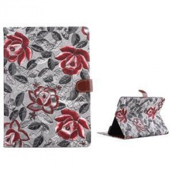 Кожаный Чехол Deft Flowers Cloth Magnetic серебристый для iPad Air 2