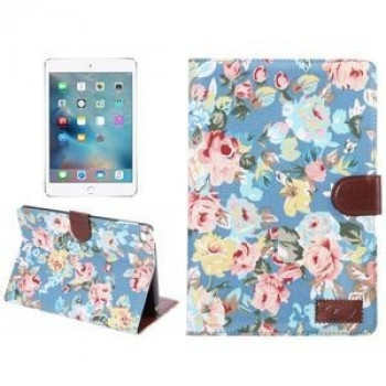 Кожаный Чехол Peony Denim Texture Flower Case Blue для Pad mini 4