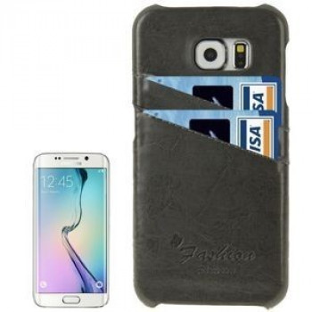 Кожаный Чехол Fashion Deluxe Retro Black для Samsung Galaxy S6 Edge / G925