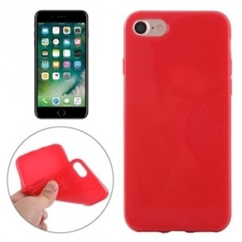 TPU Чехол Solid Color Smooth Surface Red iPhone 7/8