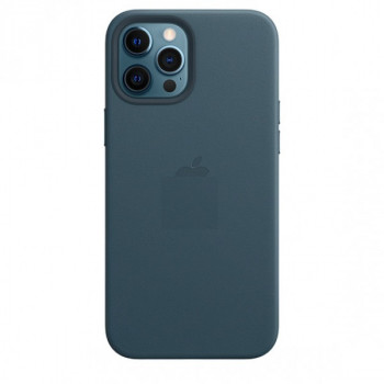 Кожаный Чехол Leather Case MagSafe Baltic Blue для iPhone 12 | 12 Pro