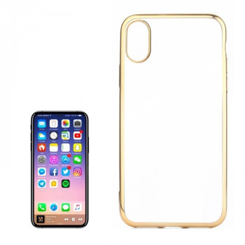 Чехол на iPhone X Electroplating Side золотой