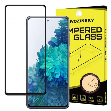 Защитное стекло Wozinsky Tempered Glass Full Glue на Samsung Galaxy A52 - черное
