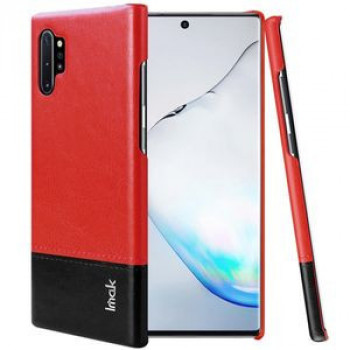 Чехол IMAK Ruiyi Series Concise Slim на Samsung Galaxy Note 10+ Plus- черно-красный