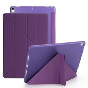 Чехол- книжка Solid Color Trid-fold + Deformation Viewing Stand на iPad  Air 2019/Pro 10.5 - фиолетовый