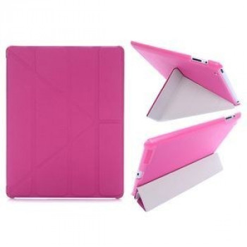 Чехол Cross Pattern Foldable Transformers Rose Red для iPad 4/ 3/ 2