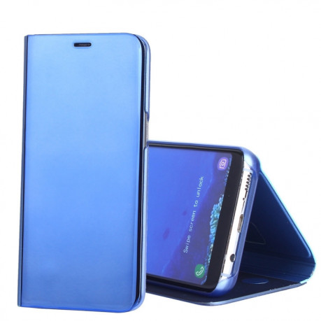 Чехол книжка Clear View на Samsung Galaxy S8/G950 Electroplating Mirror-небесно-голубой