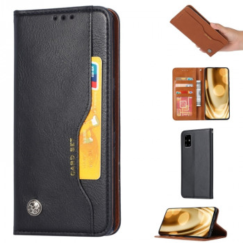 Чехол-книжка Knead Skin Texture на Samsung Galaxy Note 20 - черный