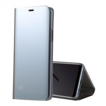 Чехол- книжка  Samsung Clear View Standing Cover OEM для Samsung Galaxy S9/G960 PU Electroplating Mirror  серебристый