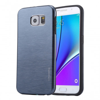 Металлический Чехол Motomo Brushed Texture Dark Blue для Samsung Galaxy Note 5
