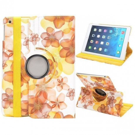 Чехол 360 Rotating Stylish Flowers Yellow для iPad Air