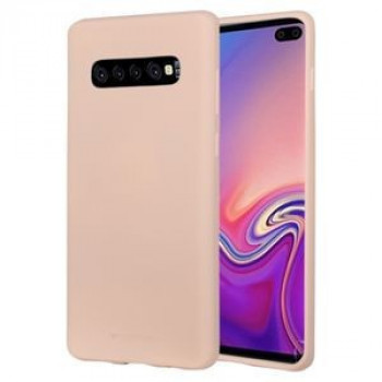 Чехол MERCURY GOOSPERY SOFT FEELING Liquid  на Samsung Galaxy S10+/G975-розовое золото