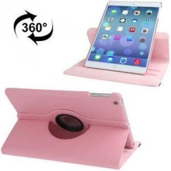 Чехол 360 Degree Litchi Texture  Case розовый для iPad Air