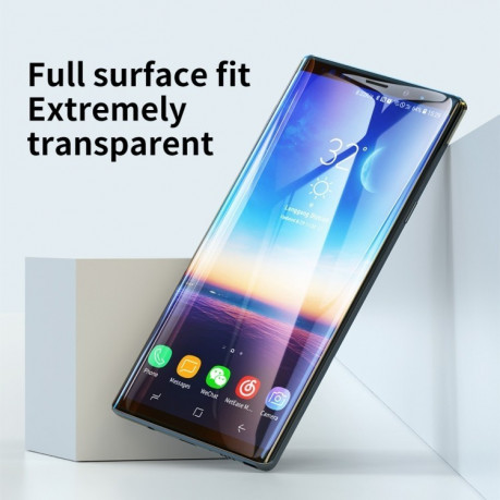 3D защитное стекло Baseus 0.3mm Curved Full Screen 9H на Samsung Galaxy Note 9-черное