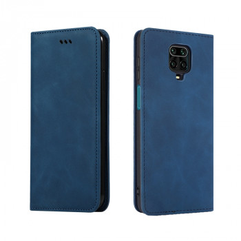 Чехол-книжка Retro Skin Feel Business Magnetic на Redmi Note 9 Pro / 9S / 9 Pro Max - синий