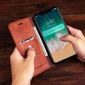 Коричневый кожаный чехол книжка на айфон 10