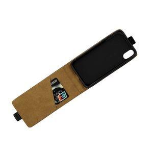 Кожаный флип-чехол на айфон Х макс черный