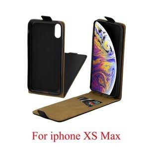 Кожаный флип-чехол Business Style на iPhone XS Max, with Card Slot черный