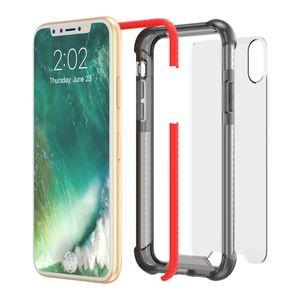 прозрачный противоударный чехол на айфон 10