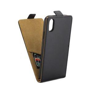 Кожаный флип чехол Business Style на iPhone XR черный