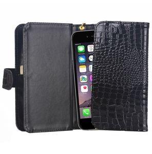 Кожаный универсальный чехол кошелек на айфон 7