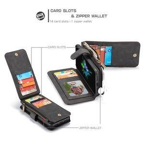 Кожаный чехол- кошелек CaseMe 007 Sries Wallet Style Picture Frame со встроенным магнитом на iPhone XR черный