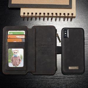 Кожаный чехол кошелек для iPhone X