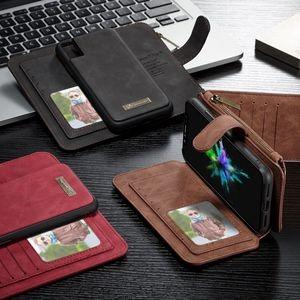 Кожаный чехол с карманом для денег и визиток на айфон 10