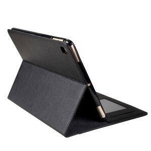 Черный кожаный чехол с силиконовым держателем для iPad 9.7 2018/2017