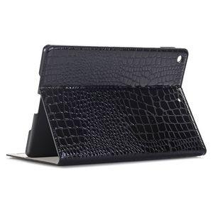 Кожаный черный лакированный чехол для iPad 9.7 2018/2017