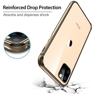 Бампер ESR Edge Guard Aluminum Alloy на iPhone 11 Pro Max- золотой