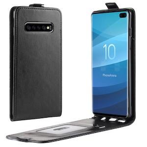 Черный кожаный флип-чехол на Samsung S10 Plus