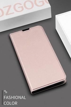 Чехол-книжка DZGOGO ISKIN Series Slight Frosted на Samsung Galaxy S10+/G975-розовое золото