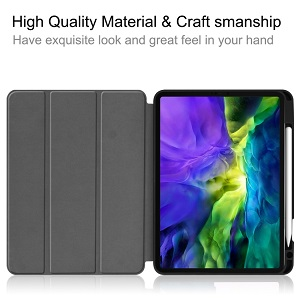 Чехол-книжка  Fabric Denim на  iPad Pro 11 inch 2020 -серый