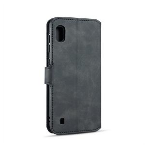 Чехол-книжка DG.MING Retro Oil Side для Samsung Galaxy A10-черный