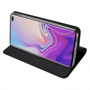 Кожаный чехол-книжка DUX DUCIS на Samsung Galaxy S10 Plus/G975-черный