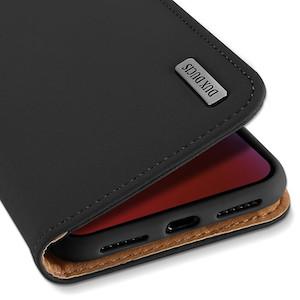 Кожаный чехол-книжка Dux Ducis Wish черный на iPhone Xr