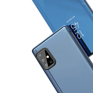 Чехол книжка Clear View на Samsung Galaxy A51 - черный