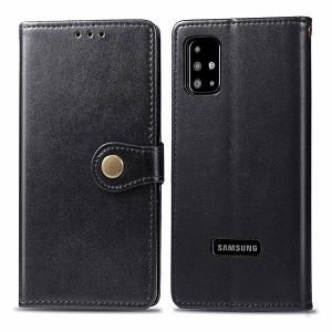 Retro Solid Color на Samsung Galaxy A51-черный