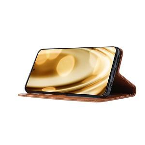 Чехол-книжка Knead Skin Texture для Самсунг Гелекси A71 - коричневый