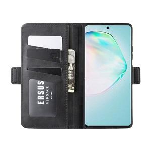 Чехол-книжка Double Buckle Crazy  на Samsung Galaxy S10 Lite- черный