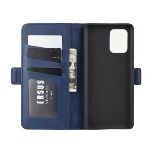 Чехол-книжка Double Buckle Crazy  на Samsung Galaxy S10 Lite- синий