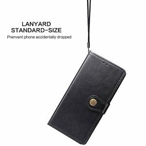 Чехол- книжка Retro Solid Color на Samsung Galaxy S10 Lite-черный