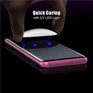 Защитное 3D стекло  с УФ лампой Mocolo 9H 3D Full Screen UV для Samsung Galaxy S20