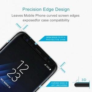 Защитное 3D стекло подходит ко всем чехлам для  Galaxy S8-черное