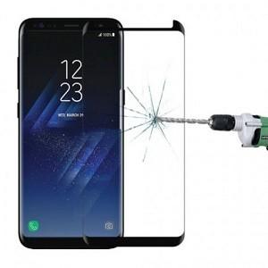 Защитное 3D стекло подходит ко всем чехлам для Samsung Galaxy S8-черное