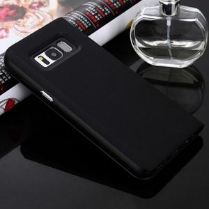 Зеркальный чехол- книжка на Samsung Galaxy S8-черный