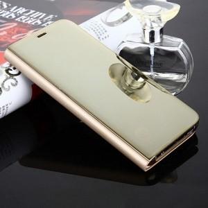Чехол книжка Clear View на  Galaxy S8/G950Electroplating Mirror-золотой