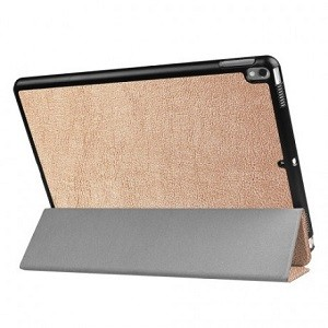 Чехол Litchi Texture 3-folding Smart Case золотой для iPad Air 2019/Pro 10.5