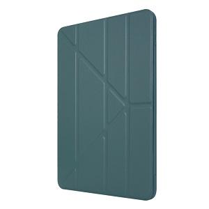 Чехол- книжка Solid Color Trid-fold Deformation Stand на iPad Pro 11 (2020) - зеленый